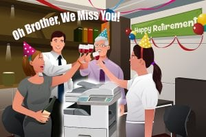 Happy retirement to Dad and his printer.