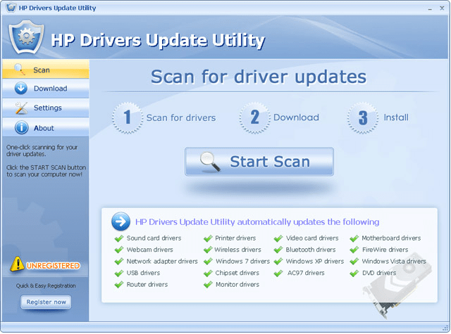 Printer Maintenance - HP Drivers Update Utility