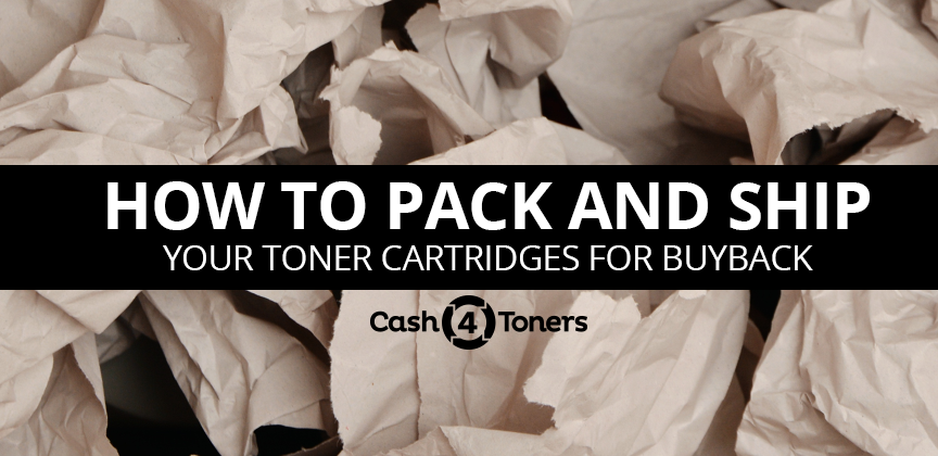how to pack and ship toner
