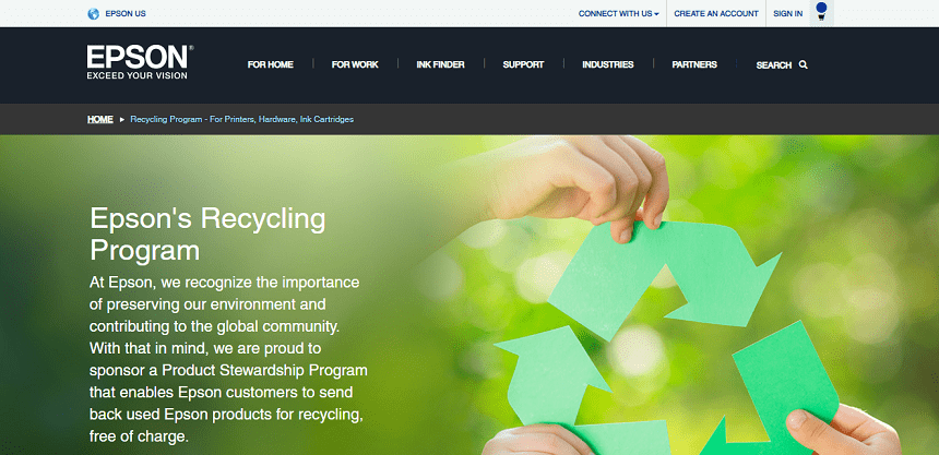 Epson Cartridges Recycling