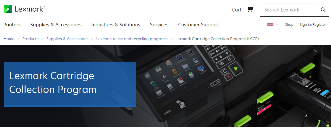 Lexmark Ink and Toner Recycling