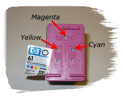 Reset button on ink cartridge